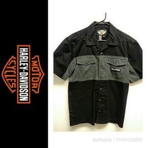 🏍 Harley Davidson WI Born Size Medium Shop Shirt
